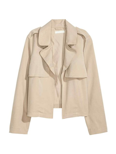 "<p>Short trench jacket, <a href=""http://www2.hm.com/en_gb/productpage.0383614002.html"" target=""_blank"">£29.99</a></p>"