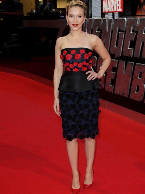 "<p><a href=""http://www.elleuk.com/star-style/celebrity-style-files/scarlett-johansson"">Scarett Johansson</a> in a <a href=""http://www.elleuk.com/catwalk/designer-a-z/prada/autumn-winter-2012"">Prada</a> peplum at 'The Avengers' London Premiere, April 2012<"