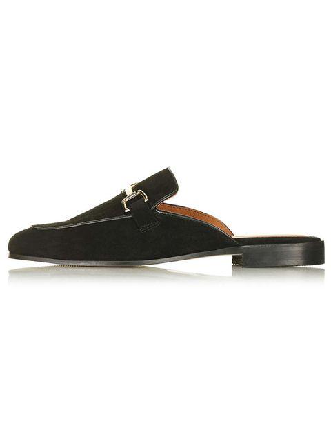 "<p>'Kylie' shoes, £62, <a href=""http://www.topshop.com/en/tsuk/product/kylie-backless-mule-5537021"" target=""_blank"">Topshop</a></p>"