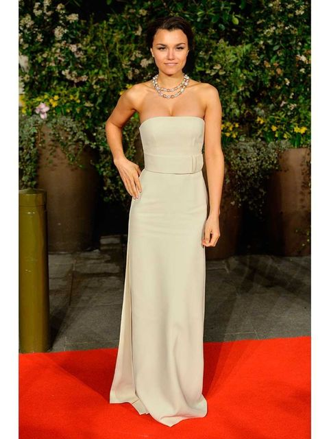 "<p>Samantha Barks in <a href=""http://www.elleuk.com/elle-tv/catwalk/calvin-klein-spring-summer-2014-video-new-york-fashion-week"">Calvin Klein Collection</a>.</p><p>Classic simplicity from Calvin Klein. This looks beautiful with her colouring.</p><p><em><a"