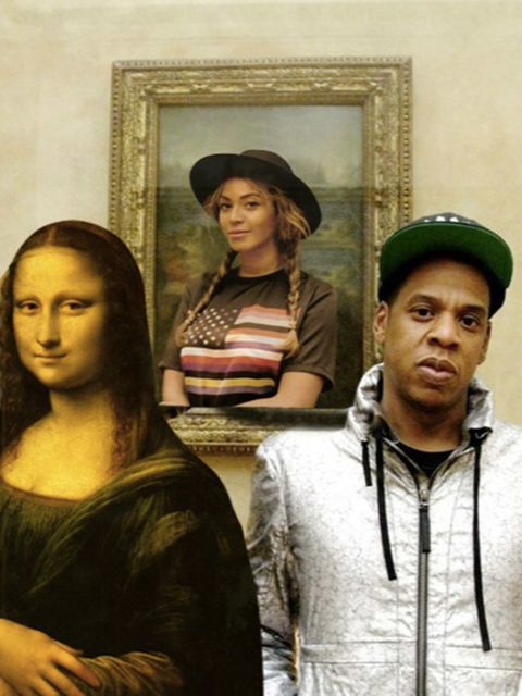 <p>Beyonc&eacute;, Jay Z and Mona Lisa.</p>