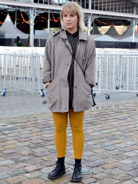 <p>Sandra Henz, Blogger, Stockholm. Vintage jacket, H&M dress, Dr Martens shoes, Grandmother's bag.</p>