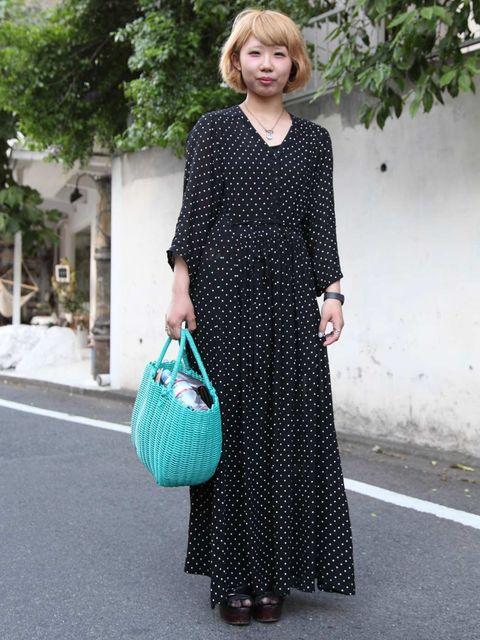 <p>Kazue, 19, Student. Vintage dress.</p>