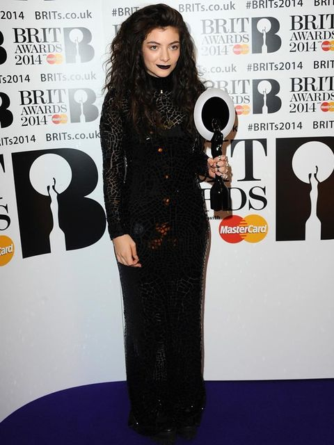 <p>Lorde wearing Tom Ford. The NZ singer manages to make this slick goth look not scary, just cool.</p>