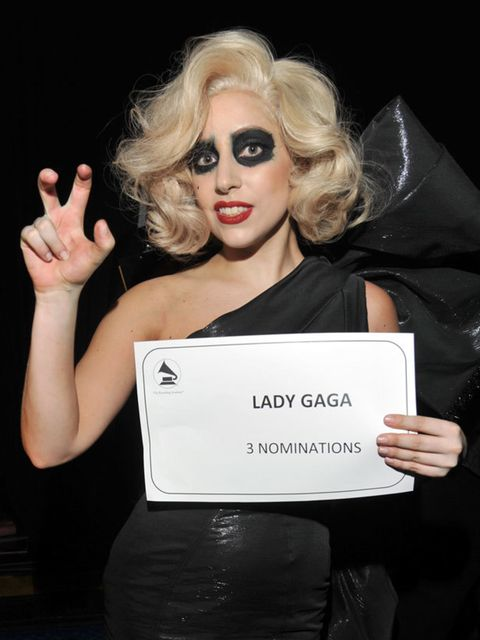 <p>Lady Gaga at the Grammy Nominations Concert</p>