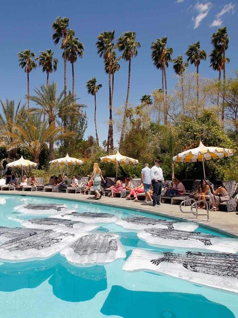 <p>The setting of Mulberry's pool party at The Parker Hotel</p>