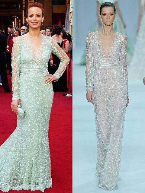 <p>The Artist actress Berenice Bejo, opted for Elie Saab spring summer 12 couture</p>