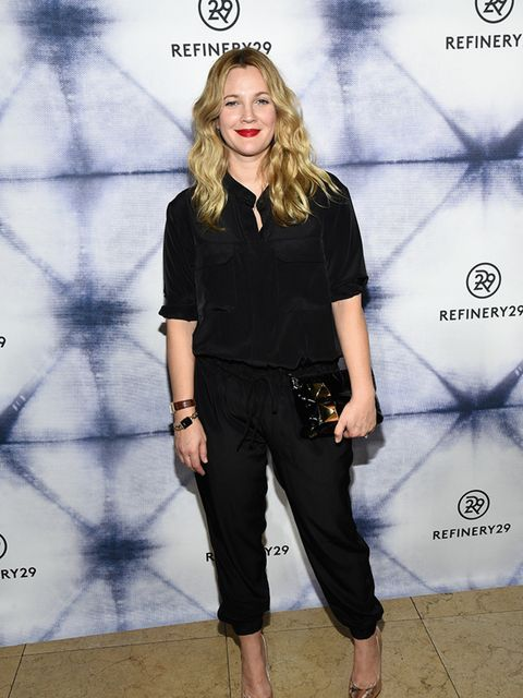Drew Barrymore at a party in Los Angeles, December 2014.