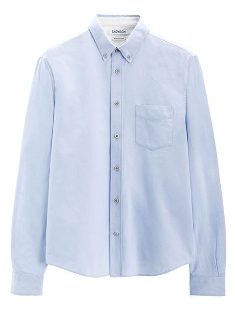 <p>A shirt from Acne's Snowdon Blue project</p>