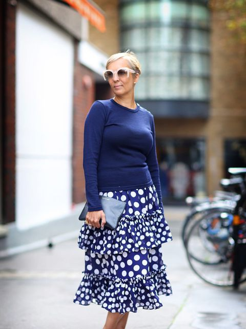 "<p><span style=""line-height:1.6"">Anne Marie Curtis, Fashion Director</span></p>  <p><span style=""line-height:1.6"">Miu Miu sunglasses, Sunspel jumper, Juan Carlos Obando for J. Crew skirt, Celine shoes, Comme Des Garcons bag</span></p>"