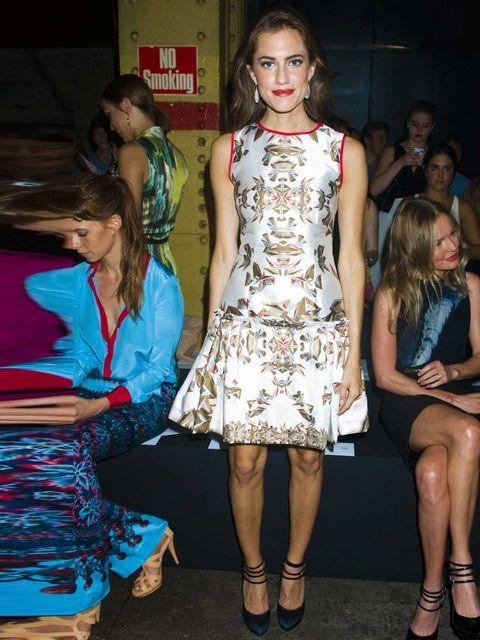 """<p>Allison Williams attends the <a href=""""http://www.elleuk.com/catwalk/designer-a-z/prabal-gurung/spring-summer-2013"""">Spring Summer 13 Prabal Gurung</a> show wearing a Prabal Gurung dress.</p>"""