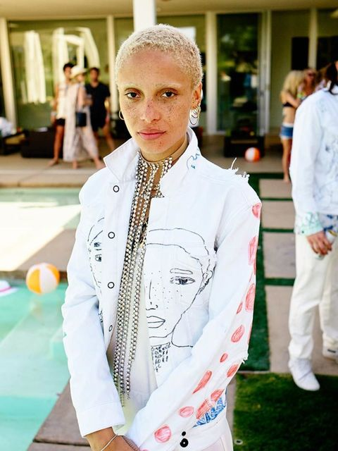 Adwoa Aboah attends the Shopbop and Poppy Delevingne pool party during Coachella, April 2016.