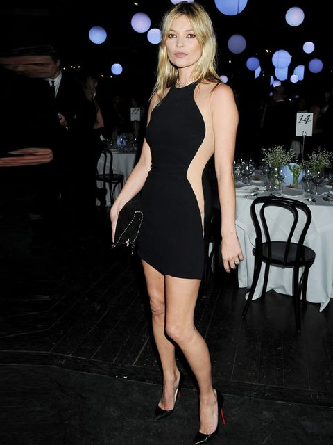 "<p>Kate Moss in an illusion dress by <a href=""http://www.elleuk.com/catwalk/designer-a-z/stella-mccartney/spring-summer-2013"">Stella McCartney</a> at a dinner during London Fashion Week</p>"