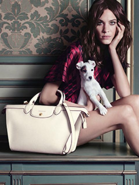 <p>Alexa Chung for Longchamp, a/w 2014</p>