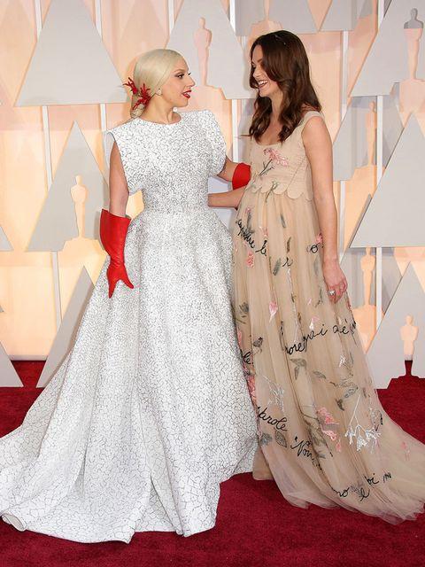 <p>Lady Gaga and Keira Knightley.</p>