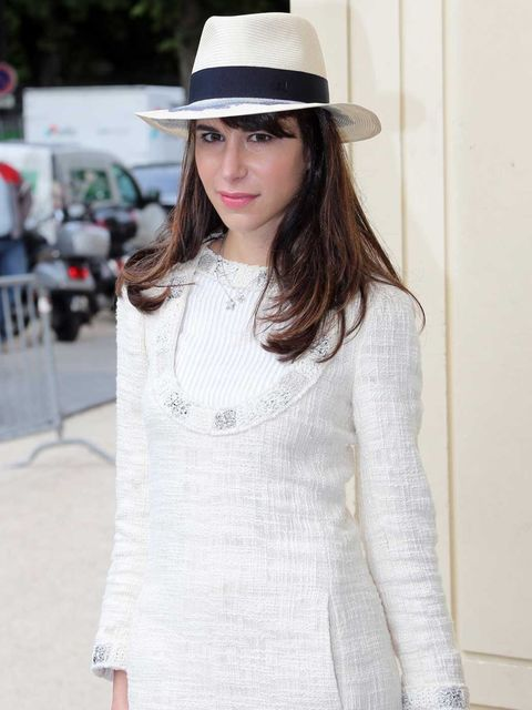 <p>Caroline Sieber arriving at Chanel Couture </p>