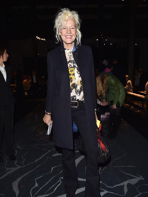 Ellen von Unwerth attends the Missoni a/w 2015 fashion show, Milan, March 2015.
