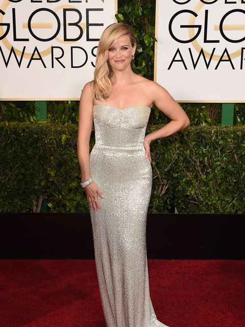 <p>Reese Witherspoon at the 2015 Golden Globes</p>