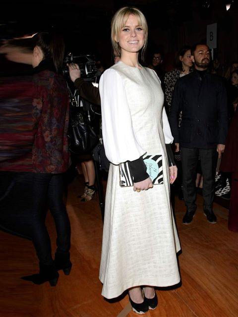 "<p>Alice Eve wears Roksanda Ilincic Spring '13 Look 33 Dress, Nicholas Kirkwood SS13 heels and Kate Spade 'I Married An Adventure' clutch bagat to the <a href=""http://www.elleuk.com/catwalk/designer-a-z/roksanda-ilincic/autumn-winter-2013"">Roksanda Ilinci"
