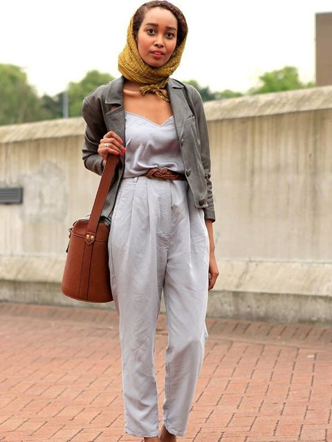 <p>Photo by Anthea Simms.Mona Ali, 21, Student. Weekdays top and trousers, 3.1 Phillip Lim jacket, Marc Jacobs shoes, Zara bag, H&amp&#x3B;M belt.</p>