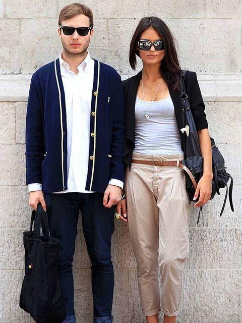 <p>Photo by Anthea Simms. Lucie, 18, Model. H&M jacket and top, Zara trousers, Sperry Topsider shoes, All Saints bag.??Felix, 23, Entrepeneur. Vintage cardigan, Ralph Lauren shirt, Dropdead jeans, Vans shoes, Dickies bag, Chanel broach.</p>