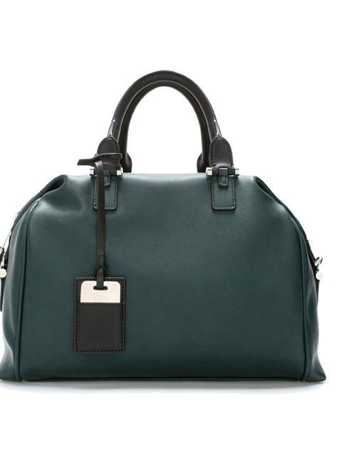 "<p>Bowler bag, £49.99 by <a href=""http://www.zara.com/uk/en/woman/handbags/soft-bowling-bag-c269200p2172603.html"">Zara</a>.</p>"