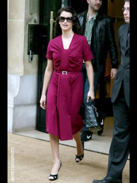 <p>Ladylike in a deep berry hue, coupled with a key 1940s shape, this look is very next season</p>
