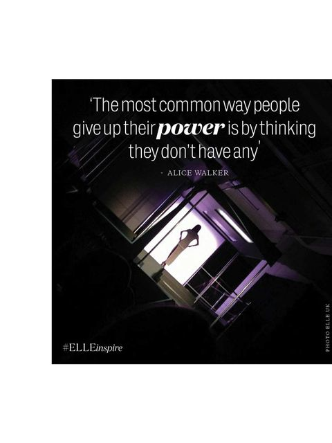 <p>'The most common way people give up their power is by thinking they don't have any.' Alice Walker</p>
