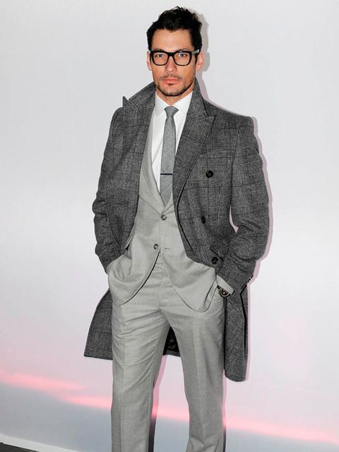 <p>David Gandy attends the J.W. Anderson show at the London Collections: MEN AW13, London, January 2013.</p>
