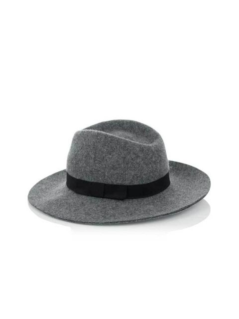 """<p><a href=""""http://www.warehouse.co.uk///warehouse/fcp-product/3033052372"""" target=""""_blank"""">Warehouse</a> fedora hat, £25</p>"""