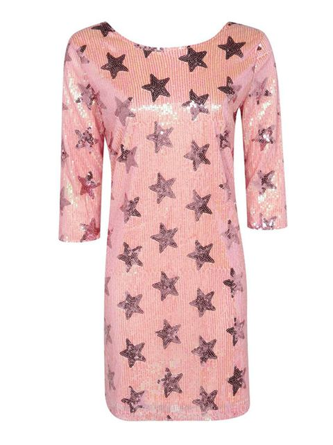 "<p><a href=""http://www.boohoo.com/restofworld/1511-promo/adina-woven-star-sequin-shif-dress/invt/azz19853"" target=""_blank"">Boohoo.com</a> dress, £30</p>  <p>A graphic star print is a fun way to make a bold statement. </p>"