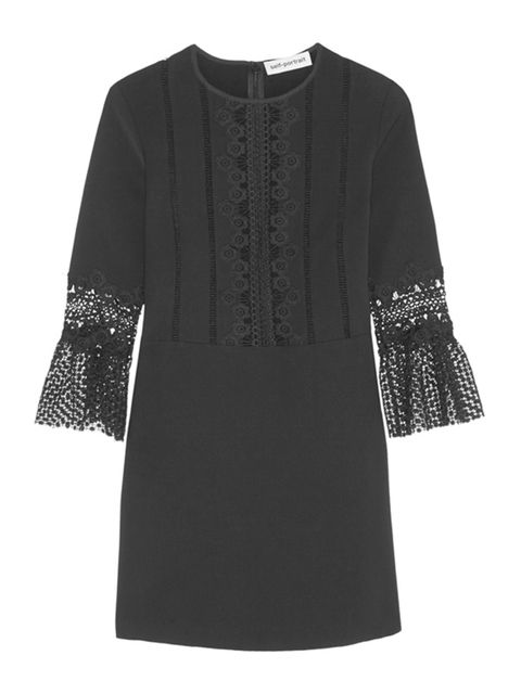 "<p><a href=""http://www.net-a-porter.com/gb/en/product/643197/self_portrait/guipure-lace-paneled-crepe-mini-dress"" target=""_blank"">Self Portrait</a> dress, £245 available at net-a-porter.com</p>  <p>The classic LBD is updated with a touch of lace - w"