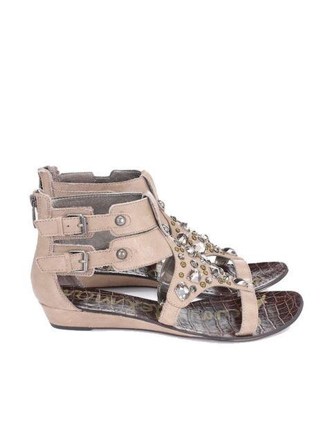 """<p>Studded gladiator sandals, £120, by Sam Edelmann at <a href=""""http://www.whistles.co.uk/fcp/categorylist/dept/sam_edelman"""">Whistles </a></p>"""