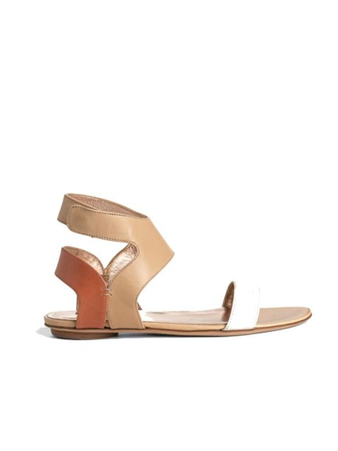<p>Nude leather sandals, £305, by Calvin Klein</p>