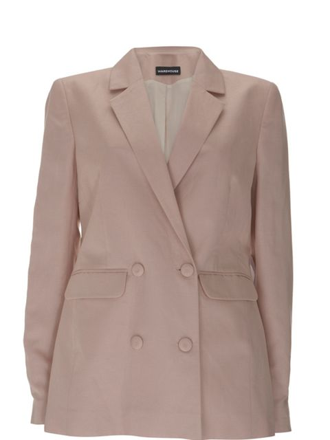 <p>Nude double breasted blazer, £65, by Warehouse (0870 1228 813)</p>