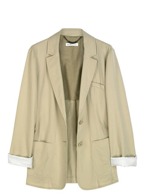 "<p>Taupe cotton blazer, £450, by See by Chloe at <a href=""http://www.net-a-porter.com/product/79528"">Net-a-Porter </a></p>"