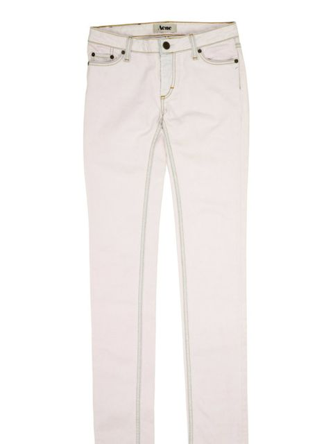 <p>Pale pink drainpipes, £150, by Acne at Urban Outfitters (0203 219 1944)</p>