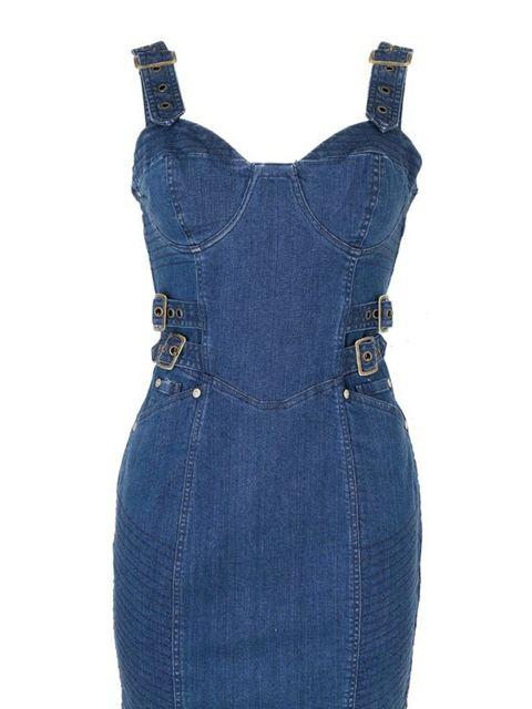 <p>Belted denim dress, £25, by New Look (0500 454 094)</p>