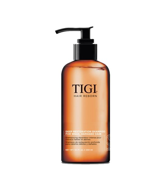 """<p>If your hair is in need of a detox, two pumps of this refreshes, strengthens and adds body and shine.</p><p><em><a href=""""http://www.tigihairreborn.com/en-GB/"""">Tigi</a> Hair Reborn Deep Restoration Shampoo, £17.95</em></p>"""