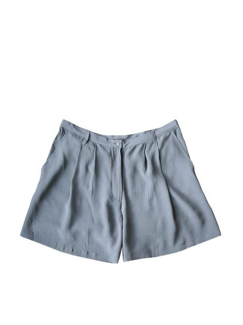 "<p>Grey silk shorts, £62, by <a href=""http://pyrus-london.com/product/160"">Pyrus</a> </p>"