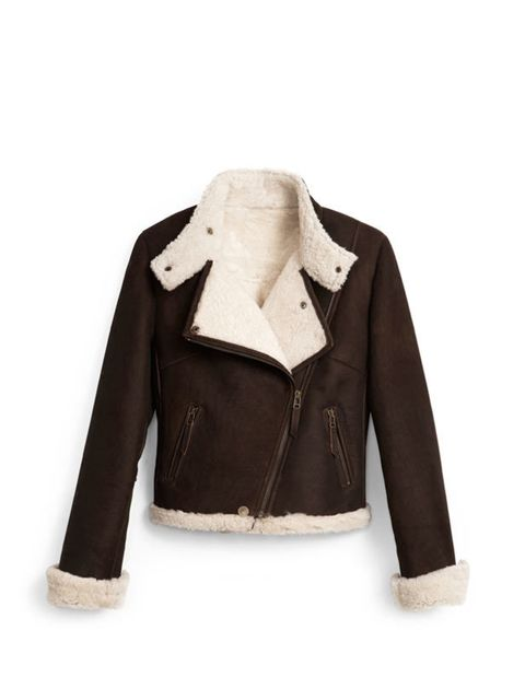 <p>Hobbs shearling jacket, £599, for stockists call 0845 313 3130</p>