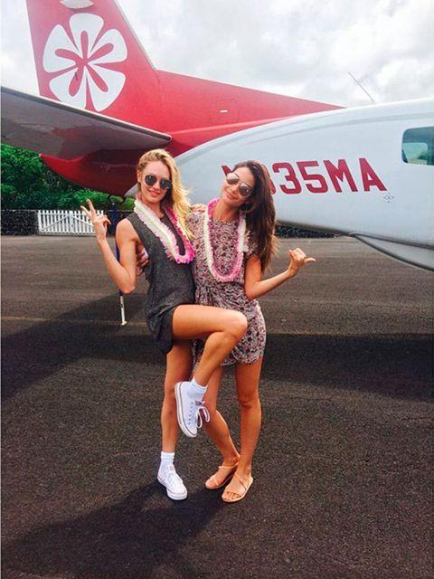 Candice Swanepoel (@angelcandices)  'Got lei'd in Hawaii. #ohyeaa @lilyaldridge'