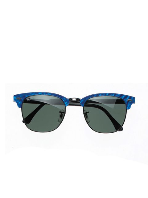 <p>Blue clubmasters, £120, by Ray Ban at Sunglass Hut (0844 264 0860)</p>