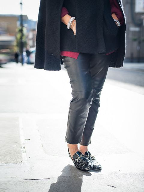<p>Anne-Marie Curtis, ELLE Fashion Director:</p><p>Joseph leather trousers, Gucci loafers</p>