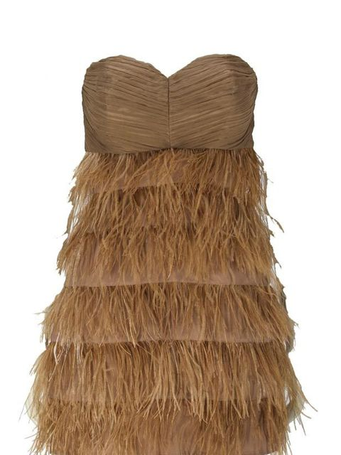 <p>Feather tiered dress, £89.99, by Zara (0207 534 9500) </p>