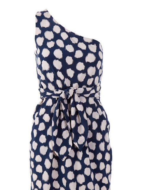 "<p>Dotted print one-shoulder dress, £259, by Theory at <a href=""http://www.seftonfashion.com/item10041944.aspx?storeid=0"">Sefton</a></p>"