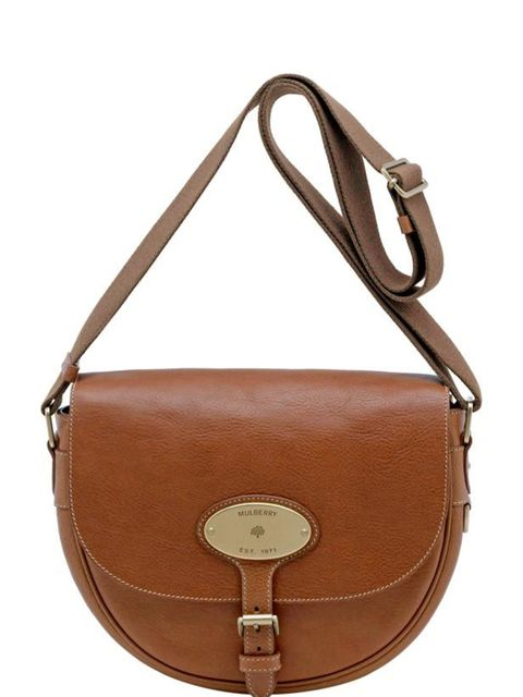 """<p>Leather saddle bag, £425, by <a href=""""http://www.mulberry.com/"""">Mulberry</a></p>"""