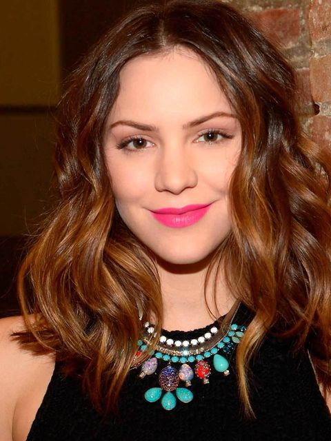 <p><strong>Katharine McPhee</strong></p><p>This vibrant cerise lip took centre stage at Giles SS13. Katherine paired it with a matte complexion and just a slick of mascara proving this look works just as well off the catwalk... </p>