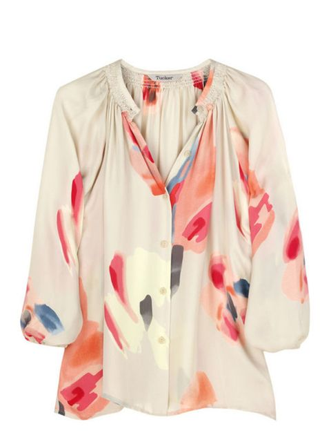 """<p>Floral silk blouse, £230, by Tucker at <a href=""""http://www.net-a-porter.com/product/62142"""">Net-a-Porter</a> </p>"""