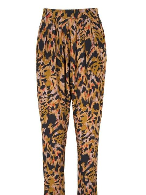 "<p>Animal print harem trousers, £120, by <a href=""http://www.whistles.co.uk/fcp/categorylist/dept/shop?resetFilters=true"">Whistles</a> </p>"